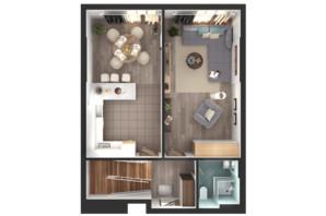 ЖК Greenville Park Kyiv: планування 4-кімнатної квартири 224.7 м²