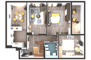 ЖК Greenville Park Kyiv: планування 6-кімнатної квартири 304.3 м²