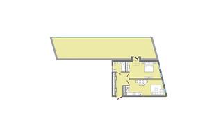 ЖК Greenville Park Lviv: планування 1-кімнатної квартири 75.43 м²