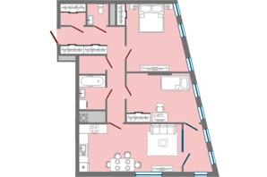 ЖК Greenville Park Lviv: планировка 2-комнатной квартиры 78.85 м²