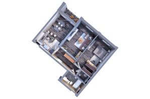ЖК Greenville на Печерске: планировка 2-комнатной квартиры 75.9 м²