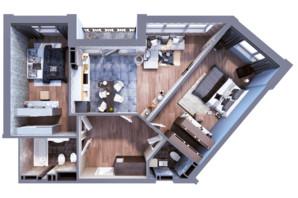 ЖК Greenville на Печерске: планировка 2-комнатной квартиры 85.1 м²