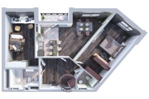 ЖК Greenville на Печерске: планировка 2-комнатной квартиры 115.1 м²