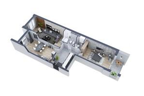 ЖК Greenville на Печерске: планировка 2-комнатной квартиры 94.9 м²