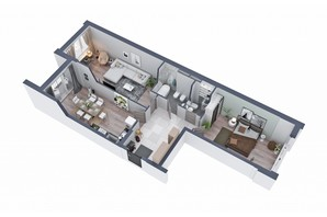 ЖК Greenville на Печерске: планировка 2-комнатной квартиры 92.6 м²