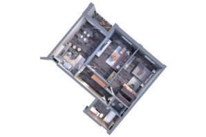 ЖК Greenville на Печерську: планування 2-кімнатної квартири 100.7 м²