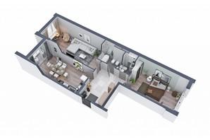 ЖК Greenville на Печерську: планування 2-кімнатної квартири 92.6 м²