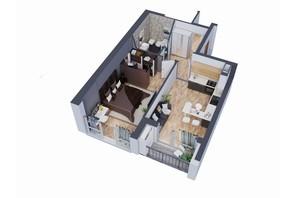 ЖК Greenville на Печерську: планування 1-кімнатної квартири 51.5 м²