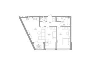 ЖК Greenville на Печерську: планування 2-кімнатної квартири 73.4 м²
