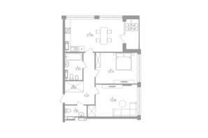 ЖК Greenville на Печерську: планування 2-кімнатної квартири 76.2 м²