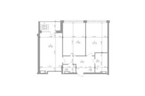 ЖК Greenville на Печерську: планування 2-кімнатної квартири 74.5 м²