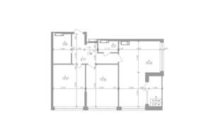 ЖК Greenville на Печерську: планування 2-кімнатної квартири 75.4 м²