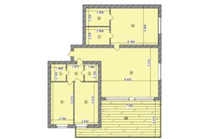 ЖК Greenwood: планування 4-кімнатної квартири 136.6 м²