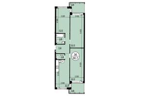 ЖК Грінвуд-2: планування 3-кімнатної квартири 90.8 м²