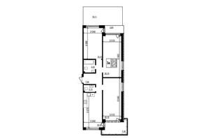 ЖК Грінвуд-2: планування 3-кімнатної квартири 96.3 м²