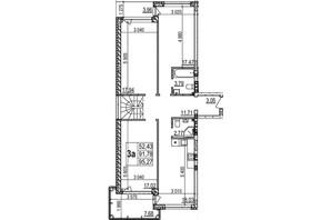 ЖК Грінвуд-2: планування 3-кімнатної квартири 143.6 м²
