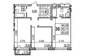 ЖК Грінвуд-2: планування 3-кімнатної квартири 110.3 м²