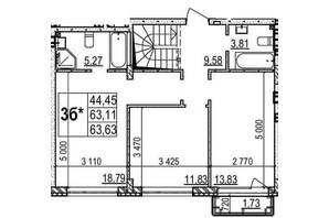 ЖК Грінвуд-2: планування 2-кімнатної квартири 110.3 м²