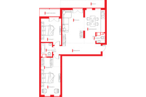 ЖК Happy House: планировка 3-комнатной квартиры 100.42 м²
