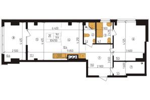 ЖК Henesi-house: планировка 2-комнатной квартиры 78.2 м²