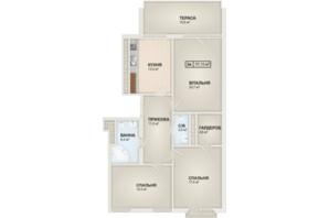 ЖК HydroPark DeLuxe: планування 2-кімнатної квартири 97.1 м²