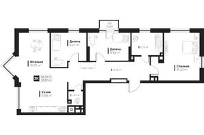 ЖК Hygge: планування 3-кімнатної квартири 85.19 м²