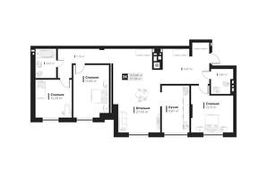 ЖК Hygge148: планировка 4-комнатной квартиры 103.86 м²
