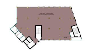 ЖК IT-парк Manufactura Next: планування 1-кімнатної квартири 605 м²