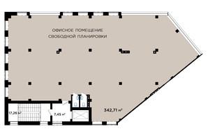 ЖК IT-парк Manufactura Next: планування 1-кімнатної квартири 342 м²