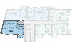 ЖК Iceberg: планировка 2-комнатной квартиры 65.99 м²