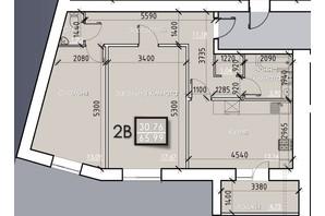 ЖК Iceberg: планировка 2-комнатной квартиры 67.72 м²