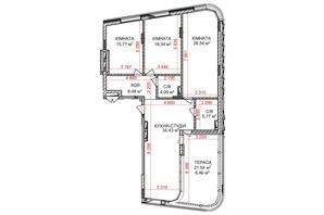 ЖК Ідеаліст: планування 3-кімнатної квартири 119.88 м²
