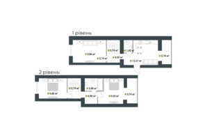 ЖК Idilika: планировка 3-комнатной квартиры 108.59 м²