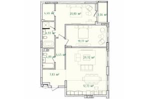 ЖК Illinsky House: планировка 3-комнатной квартиры 115.64 м²