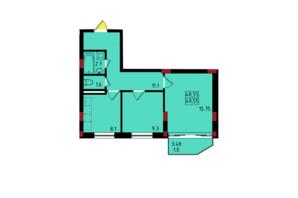 ЖК Калейдоскоп: планування 2-кімнатної квартири 49.55 м²