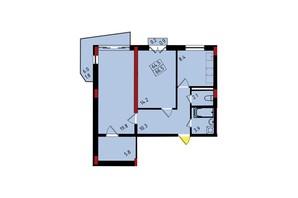 ЖК Калейдоскоп: планування 2-кімнатної квартири 66.5 м²