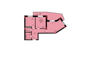 ЖК Калейдоскоп: планування 2-кімнатної квартири 53.5 м²