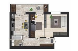 ЖК Кленовий Парк: планування 2-кімнатної квартири 57.24 м²