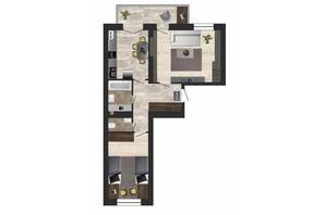 ЖК Кленовий Парк: планування 2-кімнатної квартири 61.8 м²