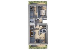 ЖК Клубный городок 12: планировка 3-комнатной квартиры 80.2 м²
