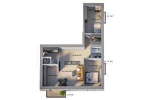 ЖК Клубный городок 12: планировка 3-комнатной квартиры 89.3 м²
