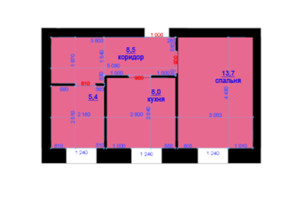 ЖК Княжий: планування 1-кімнатної квартири 35 м²