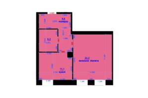 ЖК Княжий: планування 1-кімнатної квартири 45 м²
