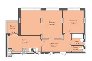ЖК Комфорт Плюс: планировка 2-комнатной квартиры 69 м²