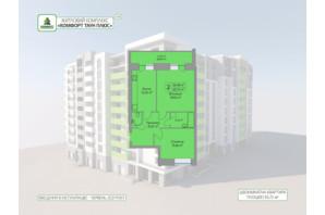 ЖК Комфорт Таун плюс: планування 2-кімнатної квартири 65.72 м²