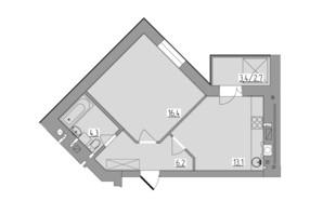 ЖК Корольова: планування 1-кімнатної квартири 42.1 м²