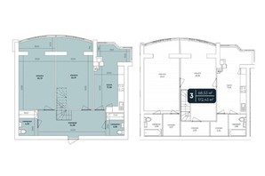 ЖК Ковалевский: планировка 4-комнатной квартиры 172.43 м²