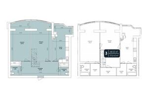 ЖК Ковалівський: планування 5-кімнатної квартири 172 м²