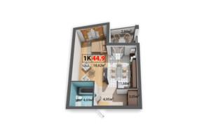 ЖК Краковский: планировка 1-комнатной квартиры 44.9 м²