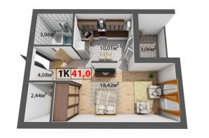ЖК Краковский: планировка 1-комнатной квартиры 41 м²